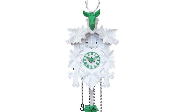 Orologio a Cucu' bianco e verde
