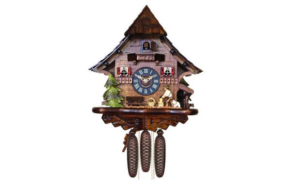 Orologio Cucu' casa stile foresta nera tetto a scandole