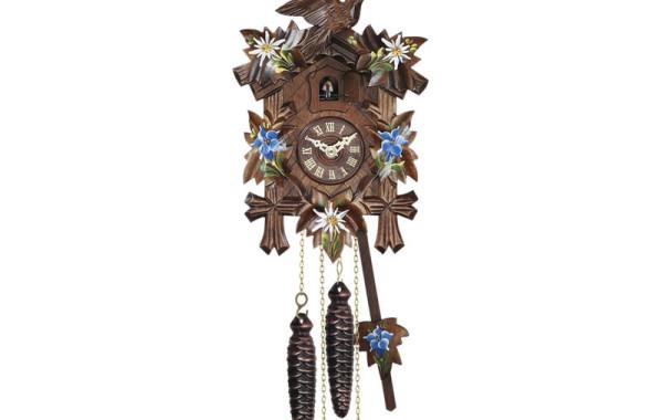 Orologio a Cucu' con stelle alpine