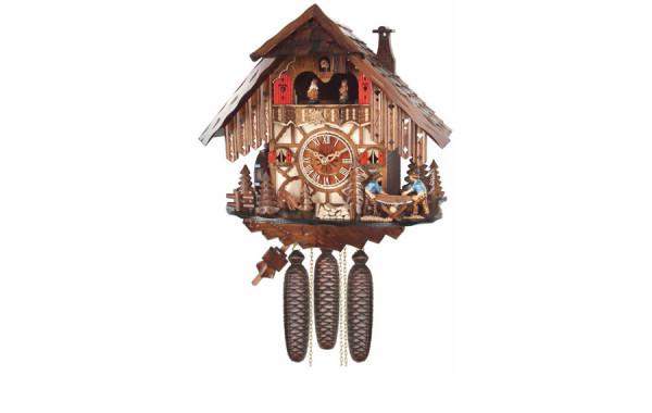 Orologio Cucu' con musica, ballerini, mulino e boscaioli