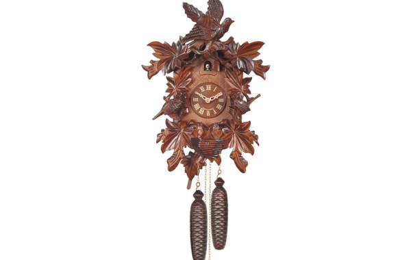 Orologio a Cucu' dettagliato intagliato a mano