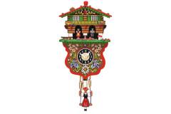 Orologio a Cucu' meccanico con bambola e casa decorata