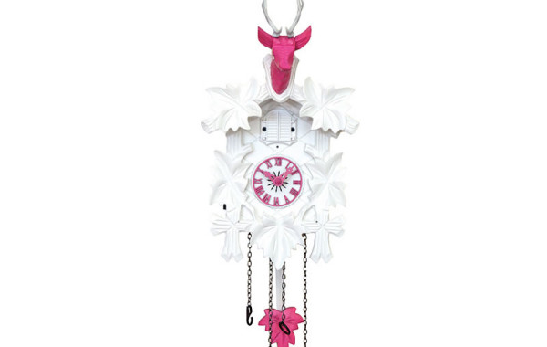 Orologio a Cucu' rosa e bianco