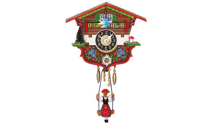 Orologio a Cucu' moderno con bambola oscillante