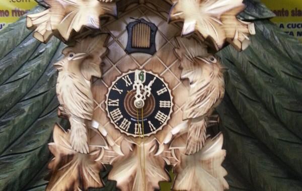 Modello 101/3ge scolpito 5 foglie legno chiaro